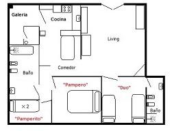 Casa de huespedes - plano habitaciones completo para la web